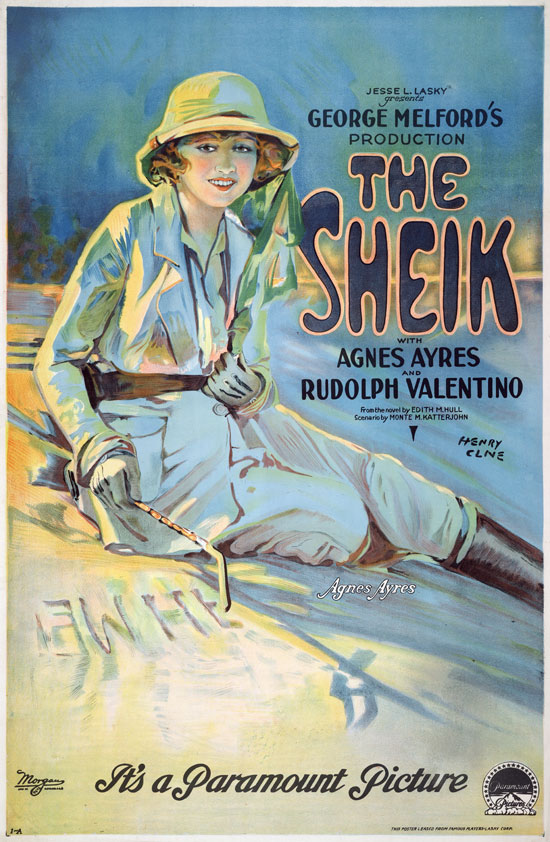 The Sheik poster with Agnes Ayres