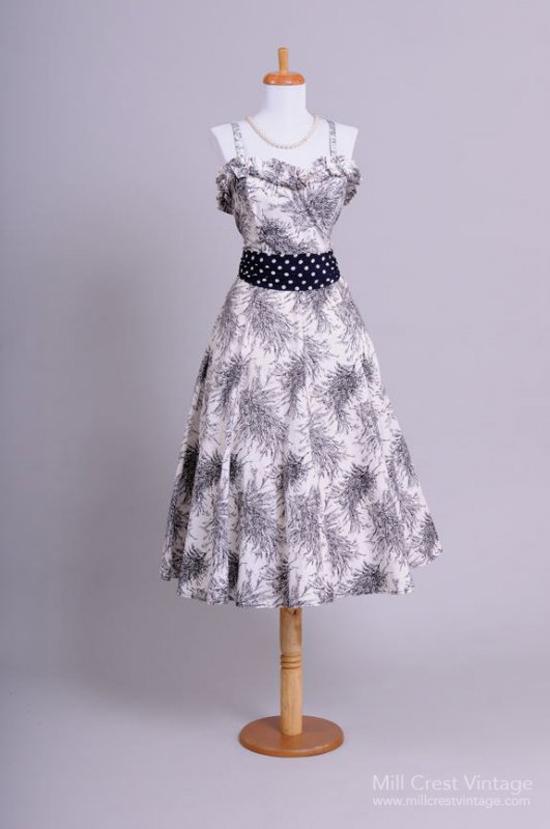 1950 Abstract Vintage Sun Dress