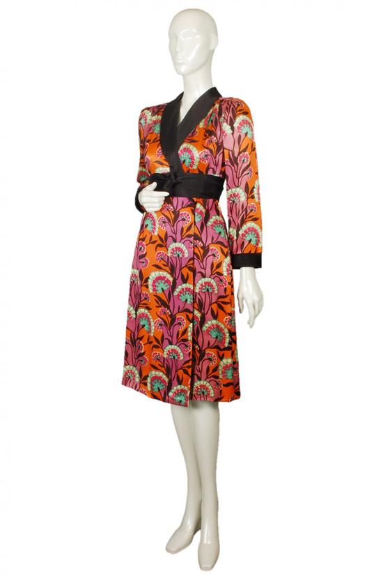 1960s mr mort hana kimono/wrap dress