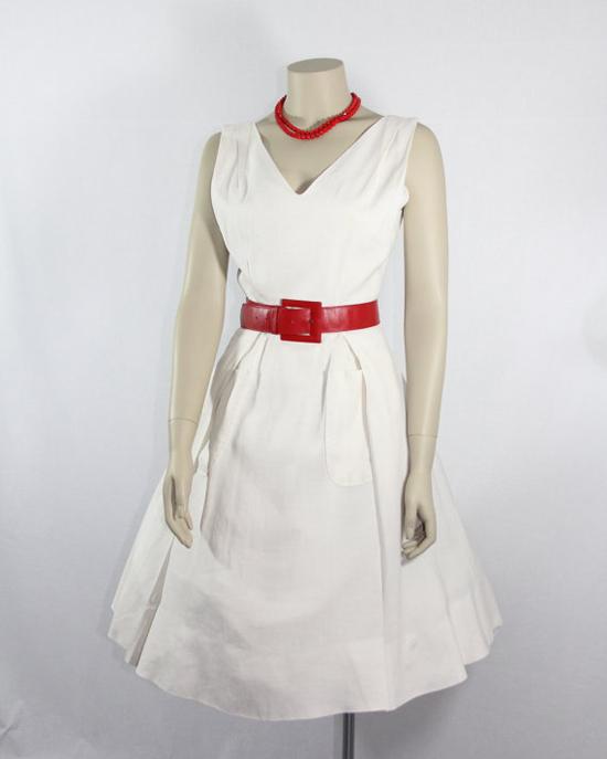 1960's Vintage White Dress