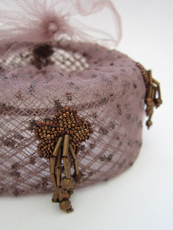 Vintage 1950s Hat with Veil