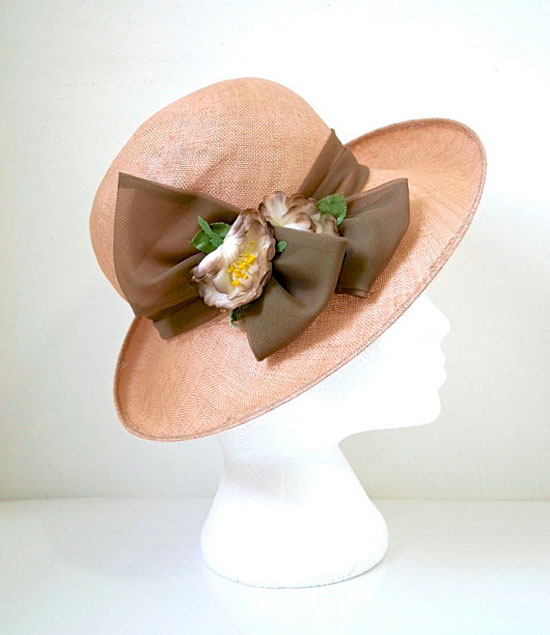 Wide Brim 1970s Vintage Straw Hat