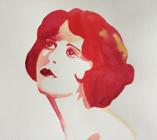 Painting of Clara Bow