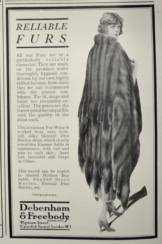 Vintage fur advert