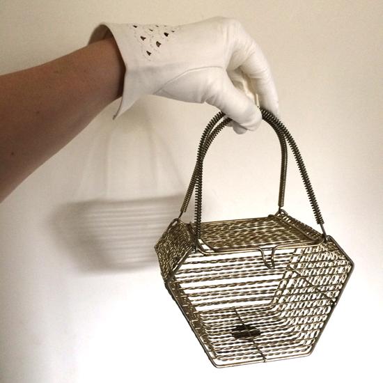 1940s handbag and gloves