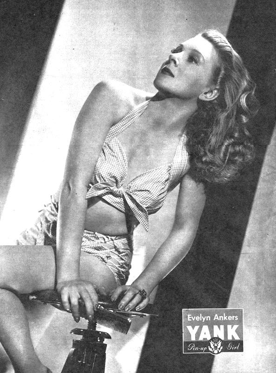 WW2 Pin-Up in Yank Magazine: Evelyn Ankers