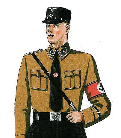 Brownshirt Nazi uniform