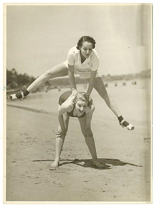 1930s photos: beach acrobatics