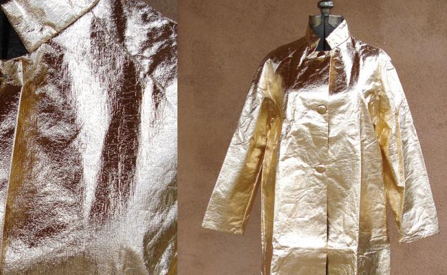 Vintage 1960s Gold Metallic Coat