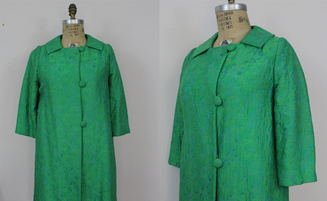 50s Green Swing Coat