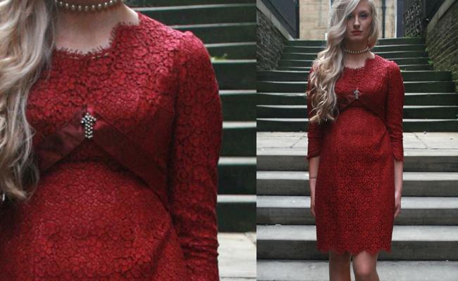 Red Lace Vintage Dress