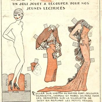 1930s French Paper Dolls: Les Robes De Suzy (Printable)