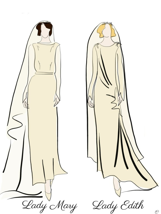 Downton Abbey wedding dresses