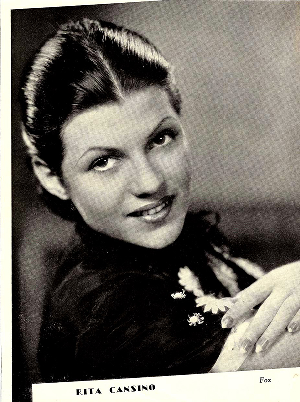 Young Rita Hayworth before she was famous