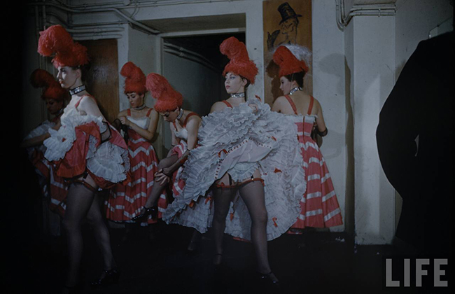 The Can Can Dancers at the Moulin Rouge Vintage phtoos