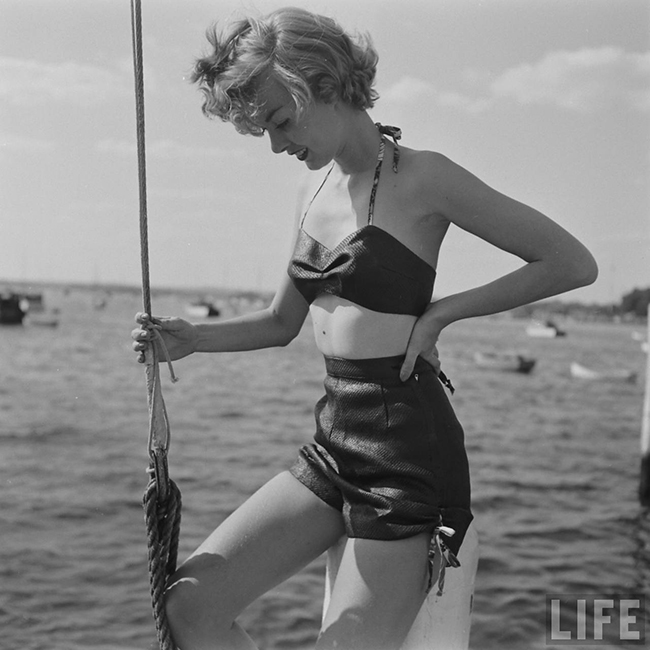 1950s waterproof paper bikini