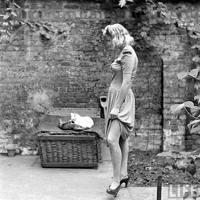 Liquid Stockings WW2 fashion