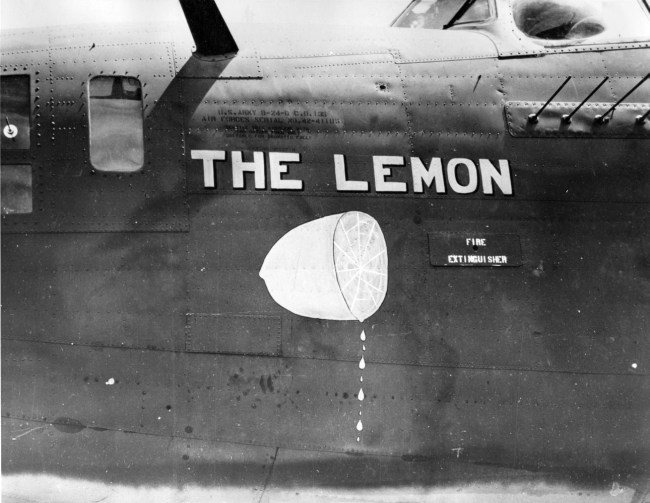 1940s airplane nose art