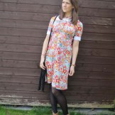 1970s Broderie Anglais Trim Dress