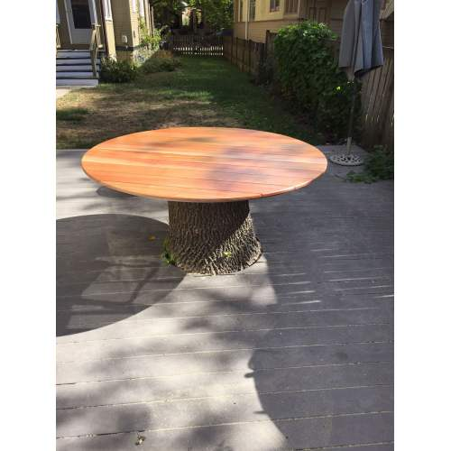 Medium Crop Of Tree Stump Table