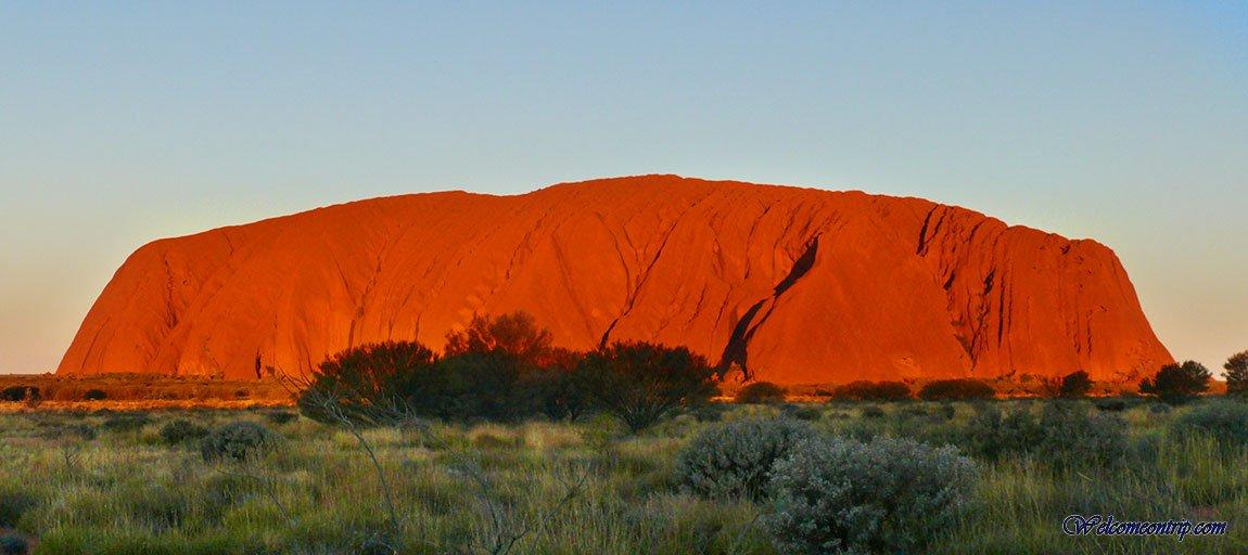 Uluru - NT - Australia : Sunset on Uluru