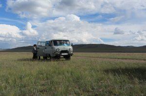 Minibus in Mongolio