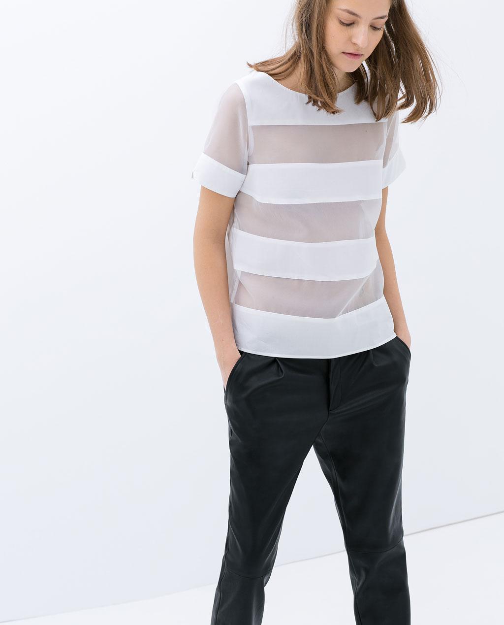 Zara White Cotton Blouse 7
