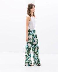 tribal print trousers Zara