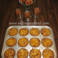 Autumn Appetizers-Bacon Cheddar Ham Cups!