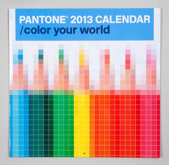 Pantone Calendar cover