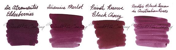 Goulet Pens Swab Shot Comparison Inks