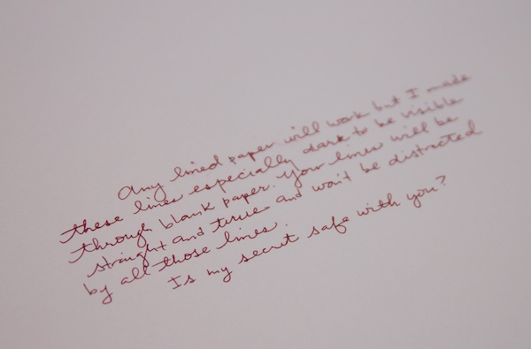 Writing after guide sheet
