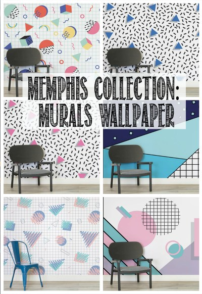How To Hang A Wall Mural (Memphis Design, Toddler Helpers & Video!) - WELL I GUESS THIS IS ...