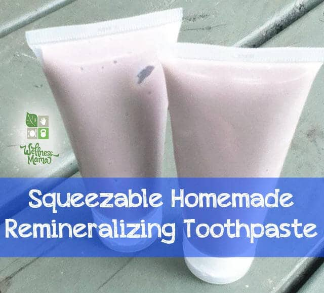 Squeezable Homemade Remineralizing Toothpate Squeezable Homemade Toothpaste