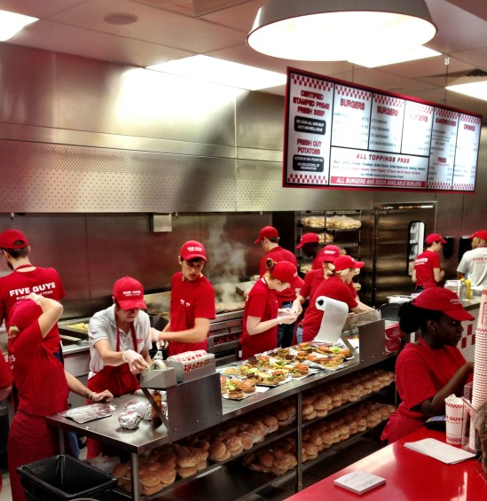 Five Guys London, We Love Food, It's All We Eat