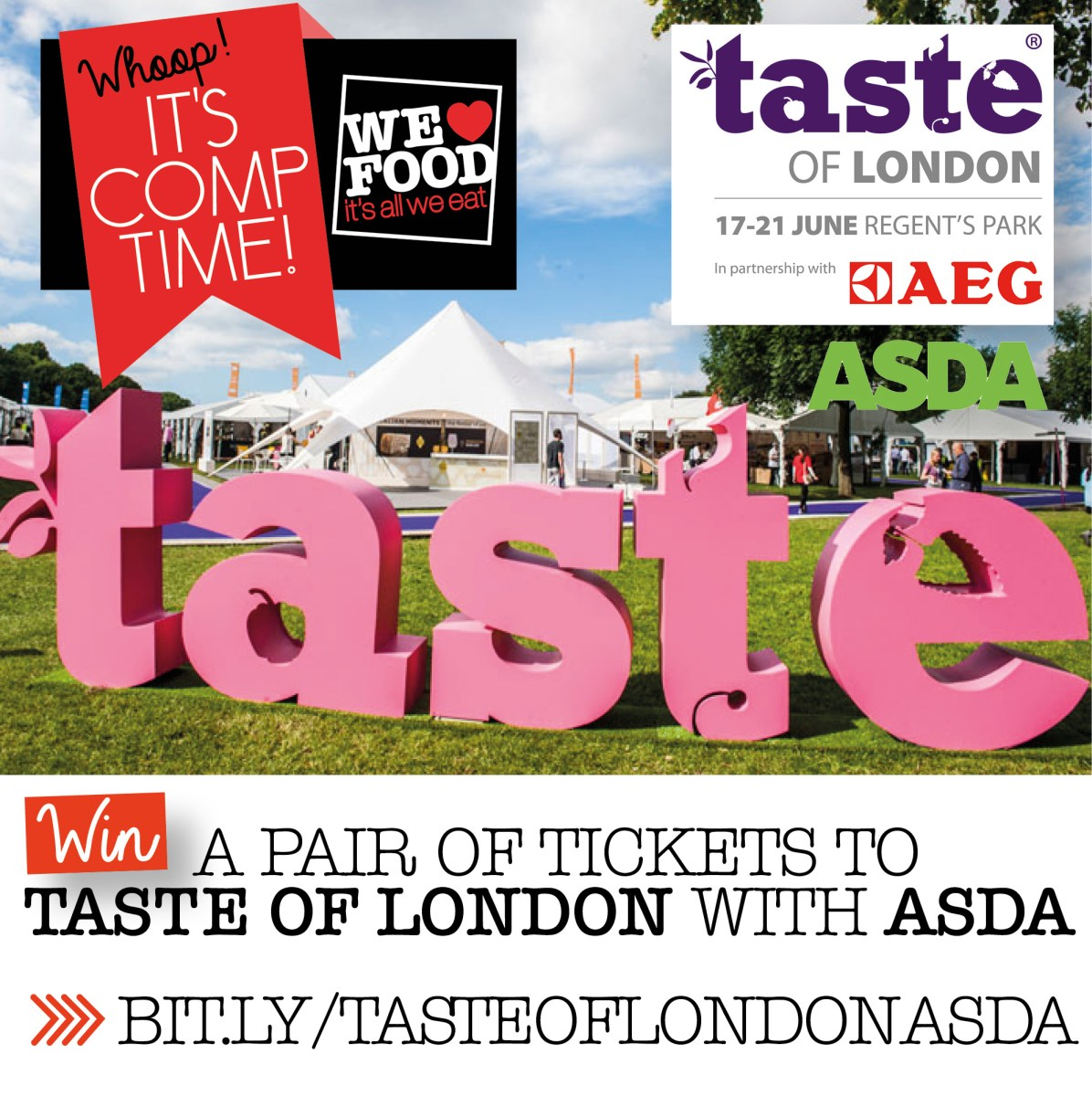 ★ WIN ★ A Pair Of Tickets To Taste Of London With Asda!