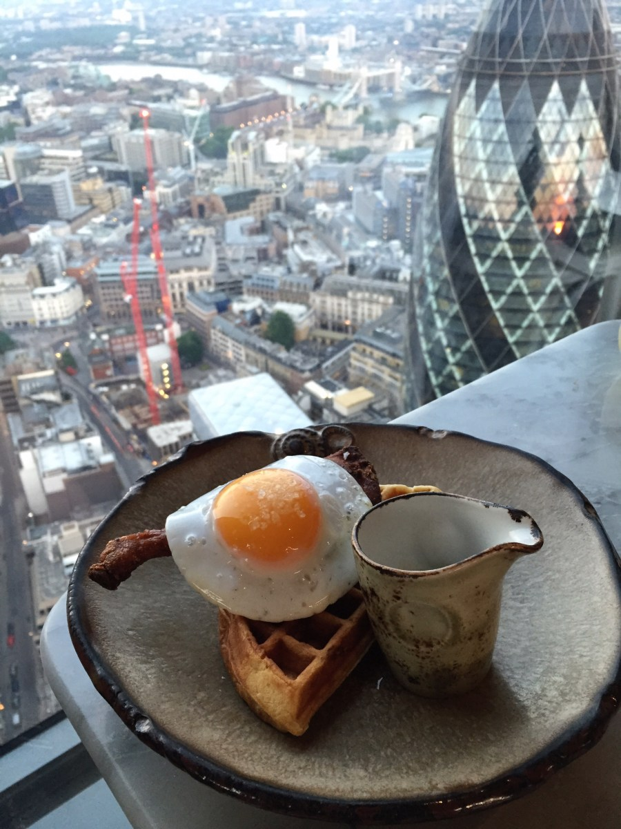 About Ducking Time! | Duck & Waffle, 110 Bishopsgate, London EC2N 4AY