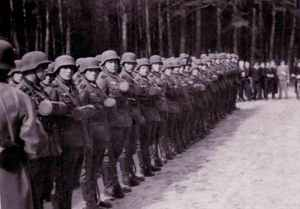 Ausbildung von wehrmacht soldaten 1940 foto des großvaters des