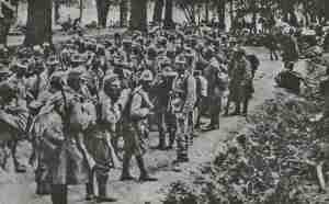 Österreich-ungarische Soldaten in der Nähe von Jaroslav