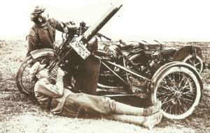 MG auf Motorrad