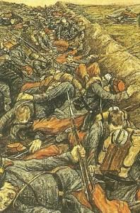 Gefallene französische Soldate