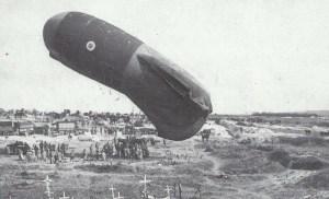 britischer Beobachtungsballon