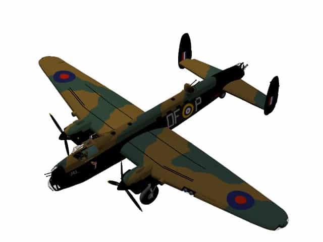 3d-Modell Avro Lancaster