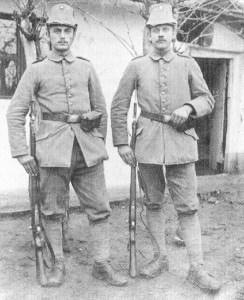 Preussische Schützen eines Jäger-Battalions