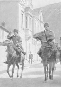 Russische Kavallerie in Trapezunt
