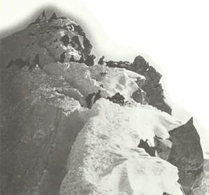 Italiener auf Berggipfel im Trentino