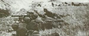 Bulgarische Maschinengewehr-Teams in Aktion