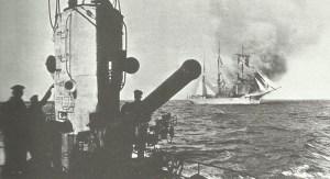 U-Boot versenkt Segelschiff