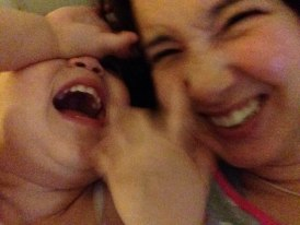 Snuggling and giggles