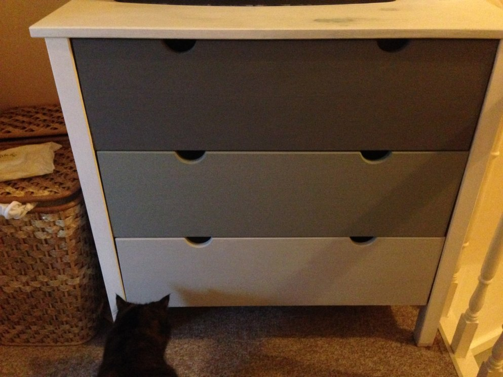 DIY Ombre Chest of Drawers